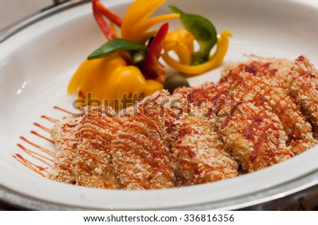 Deep-Fried Spare Ribs - stock photo