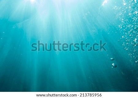 Deep in the sea _ Light and Sky - stock photo