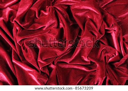 Deep red velvet background. Very affectionate and passionate. - stock photo