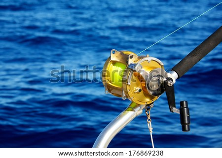 deep sea fishing reel used catching stock photo 176869238, Reel Combo