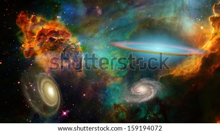 Deep Space Elements of this image furnished by NASA - stock photo