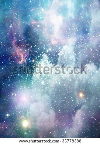 Deep Space Scene - stock photo