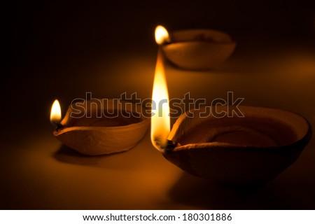 Deepavali Oil Lamp Festive Burning The Midnight