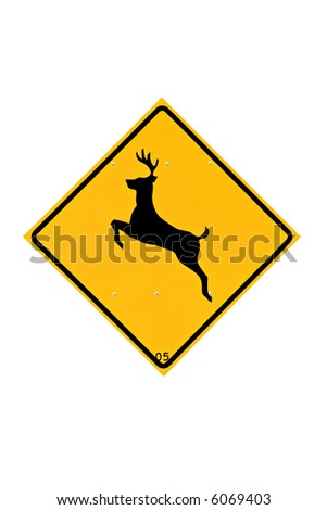 Deer Crossing Sign Stock Images, Royalty-Free Images ...