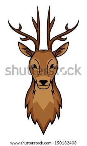 deer head stock illustration 150182408 shutterstock rh shutterstock com cartoon deer in headlights cartoon deer head drawing