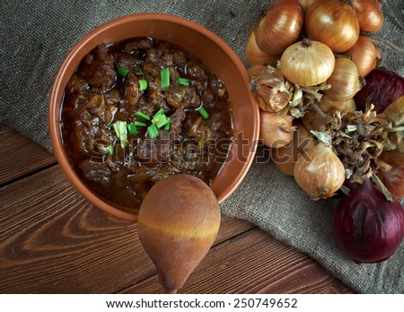 Deer ragout - old French dish of venison