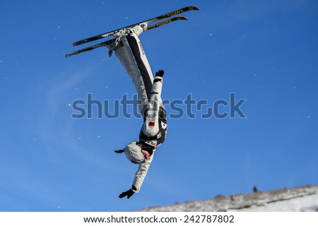 DEER VALLEY, UT - January 08: Huilin Quan at the FIS VISA FREESTYLE World Cup, Aerials Competition in Deer Valley, UT on January 08, 2015