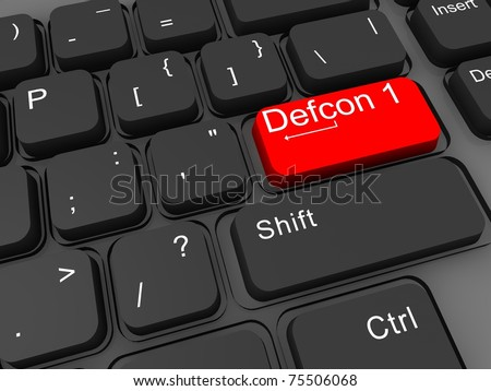 Defcon levels 3d keyboard key