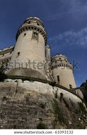 Defense towers, Pierrefonds Castle, Picardy, France