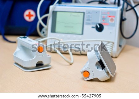 Defibrillator - stock photo