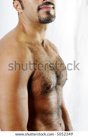 Defined Hairy Chest - stock photo