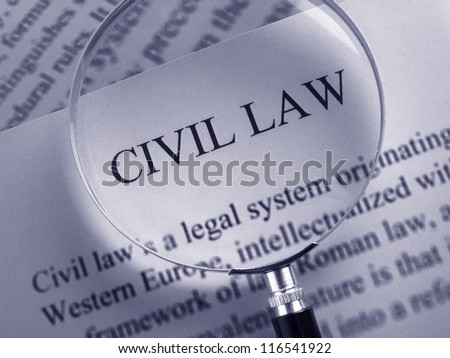 Definition of Civil Law - stock photo