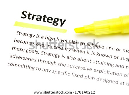 Definition of strategy - stock photo