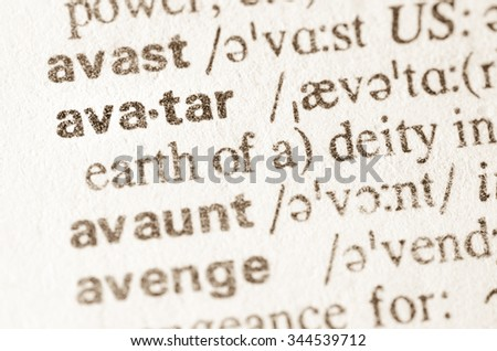 Definition of word avatar  in dictionary