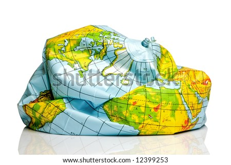 deflated planet earth