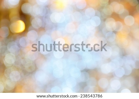 Defocus image of Christmas Light  for use as Background - stock photo