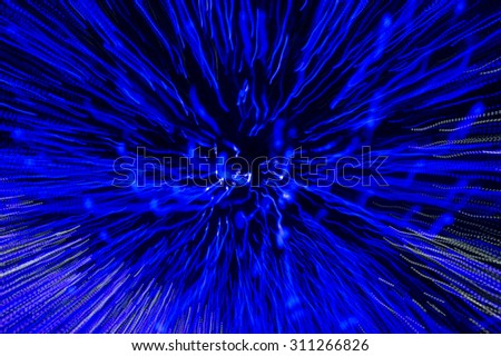 Defocused abstract blue christmas background - stock photo