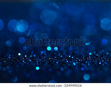 Defocused abstract blue lights background . bokeh lights. concept. - stock photo