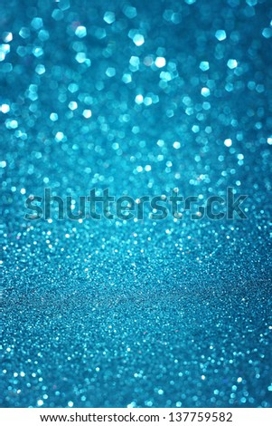 Defocused abstract blue lights background . bokeh lights. summer concept. - stock photo