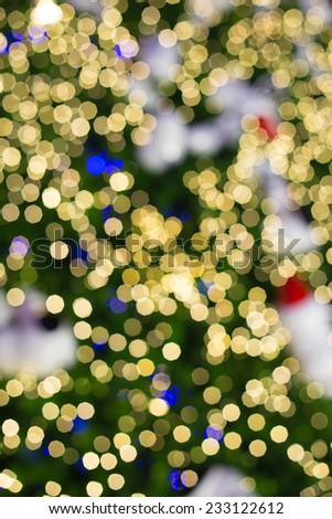 Defocused abstract bokeh lights christmas background. - stock photo