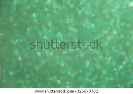 defocused abstract green christmas background - stock photo