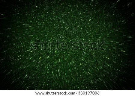 Defocused abstract green lights background  - stock photo