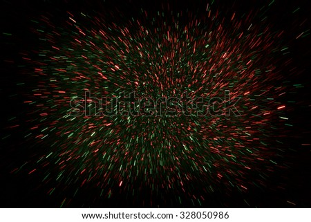 Defocused abstract of red and green  lights burst background  - stock photo