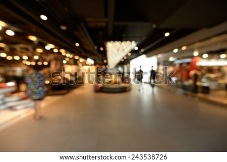Defocused and blurred image for background of people walking in urban.