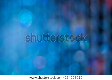 Defocused blue abstract or bokeh Christmas and holiday background - stock photo