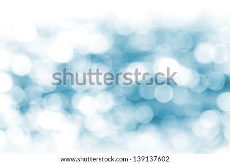 Defocused blue lights abstract background. Natural photo bokeh patten - stock photo