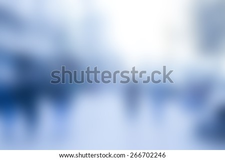 defocused blurred abstract image with bokeh lights, blue tone - stock photo