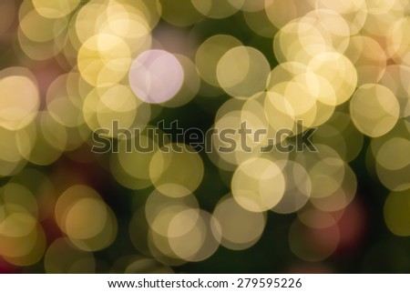 defocused blurry christmas bokeh light for abstract background
