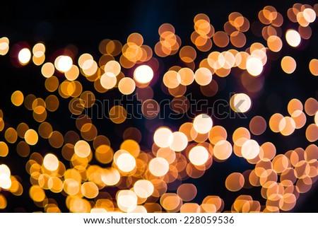Defocused bokeh from christmas decoration light.  - stock photo