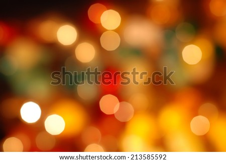 defocused bokeh lights  - stock photo