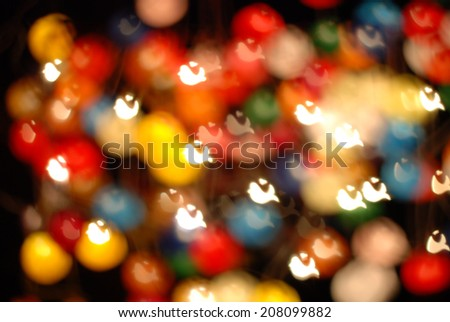 defocused bokeh lights. filtered bird bokeh blurred background.