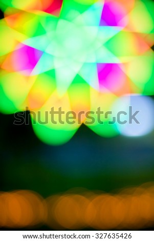 Defocused bokeh lights over blur background