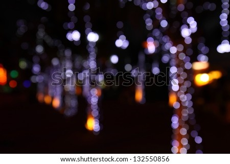 Defocused circle light background. - stock photo