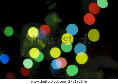 Defocused colorful lights. Blurred background.  - stock photo