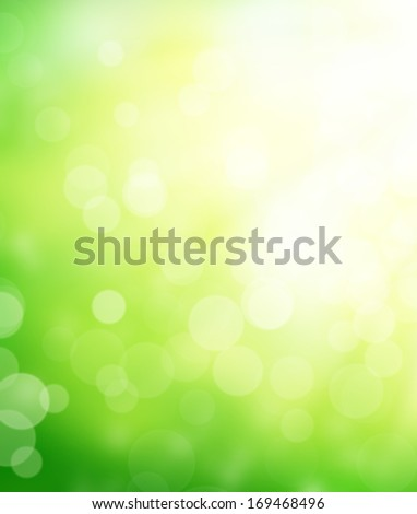 Defocused floral background with spot lights - stock photo