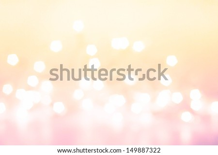 Defocused gold Bokeh light Vintage background.  Christmas background. - stock photo