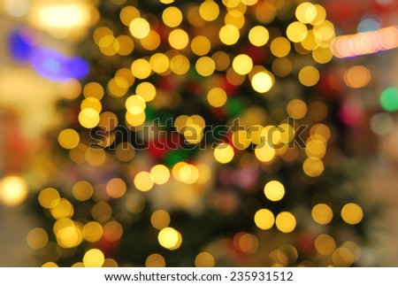 Defocused golden abstract christmas background
