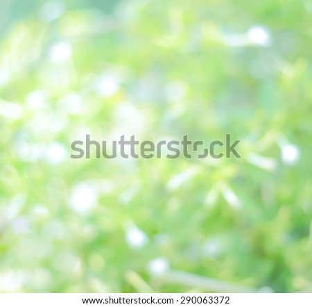 defocused green lights abstract background. Natural photo bokeh patten - stock photo