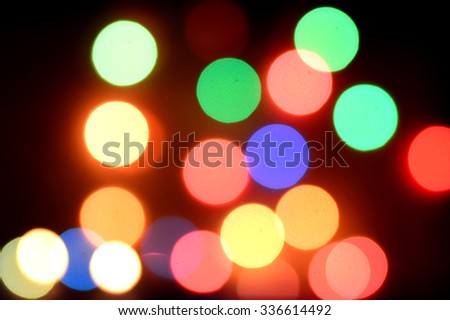 Defocused light dots abstract background.  - stock photo
