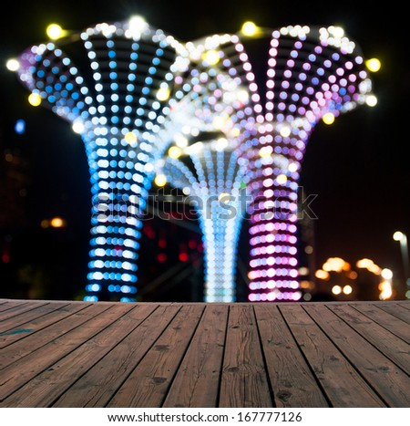Defocused lights - stock photo