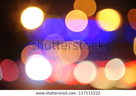 defocused lights facula background - stock photo