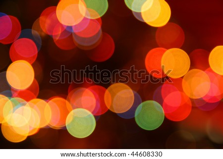 defocused ?olored circular lights backgrounds - stock photo