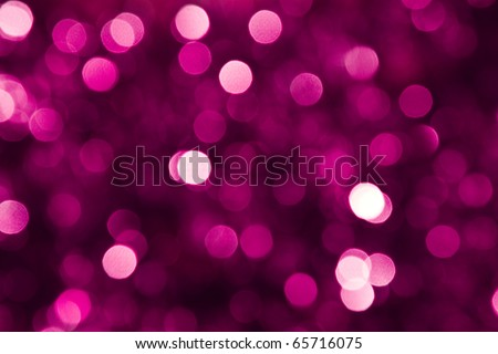 Defocused pink abstract christmas background - stock photo