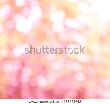 Defocused pink lights abstract background. Natural photo bokeh patten - stock photo
