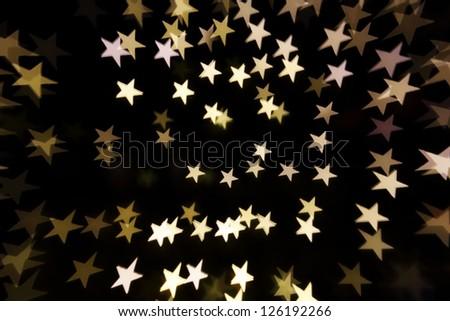 defocused stars light background - stock photo