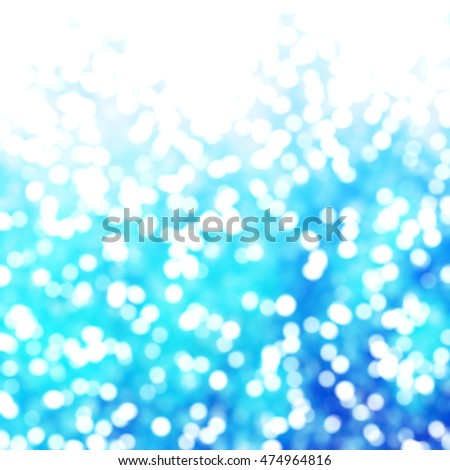Defocused Unique Abstract Blue Bokeh Festive Lights
